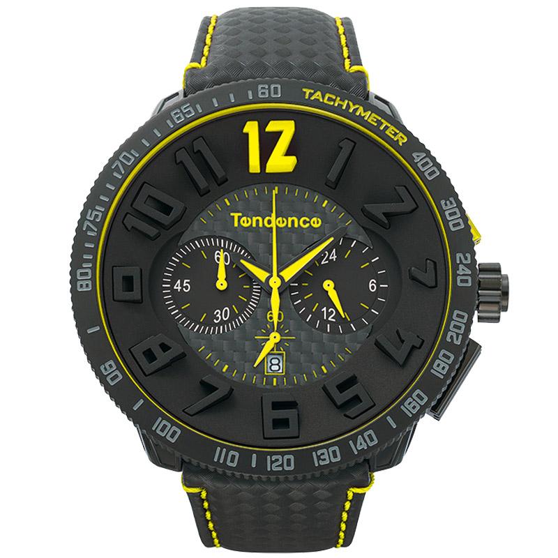 Tendence TGS30002SPORT CARBON FIBERテンデンス 腕時計スポーツ カーボンファイバーブラック×イエロー