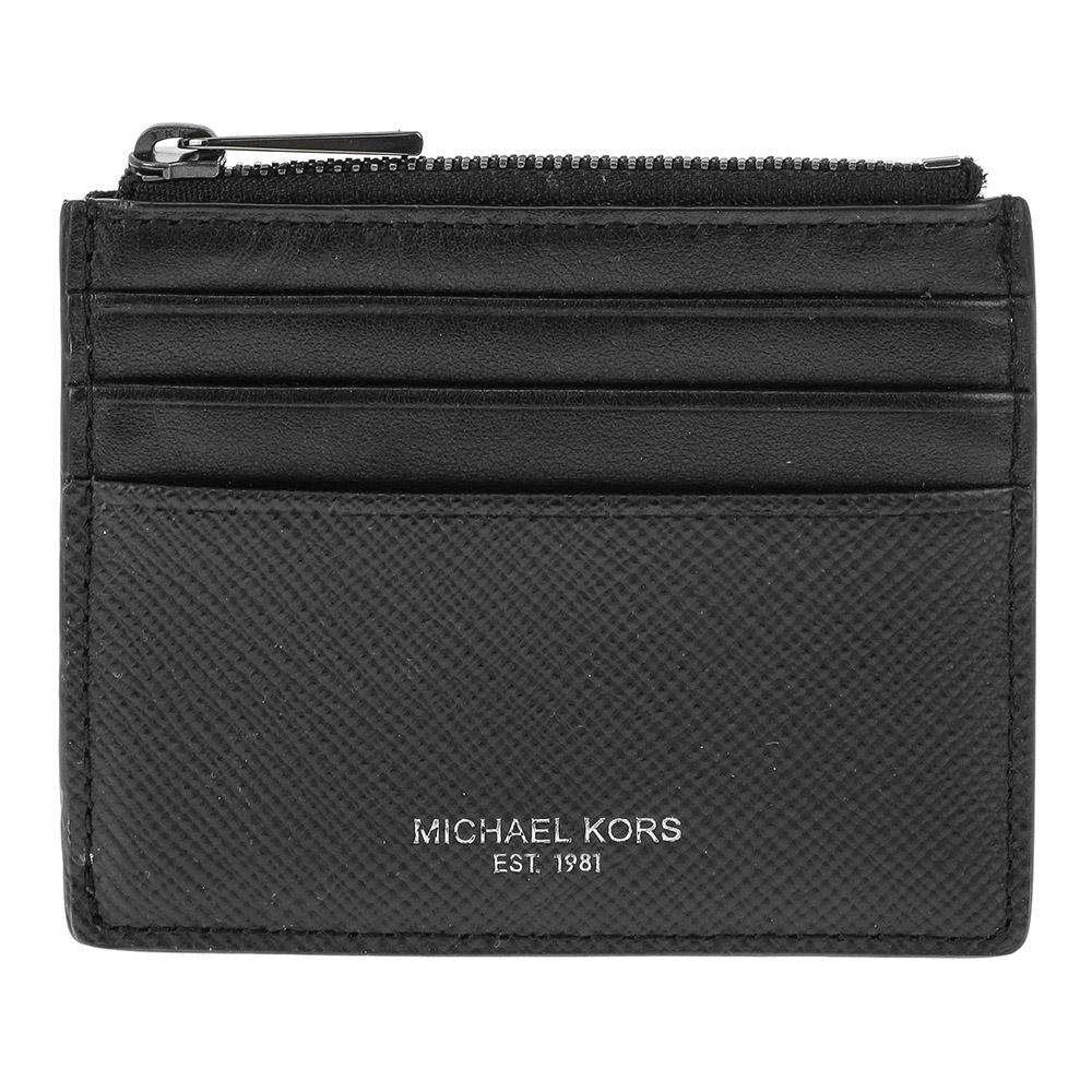 MICHAEL 39F6LHRD6L-001マイケルコース カードケースレザーブラック×シルバー