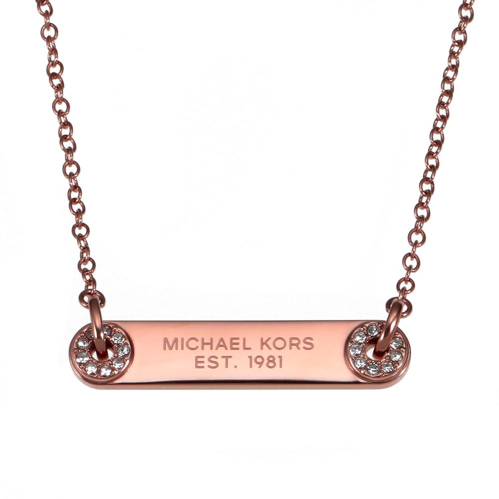MICHAEL KORS MK6384791マイケルコース ネックレスピンクゴールド