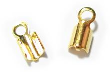 紐留め金具 贈与 2mm 金 10ヶ ビーズ オンラインショッピング パーツ ひもとめ