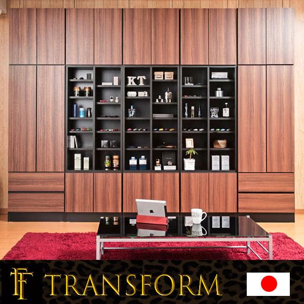 【Transform】トランスフォームシリーズ ユニットシステム壁面収納 幅60 中台 オープンラックタイプ ラック 棚 白家具 木製 完成品 ブラウン ホワイト つっぱり テレビ台 薄型 本棚 テレビボード