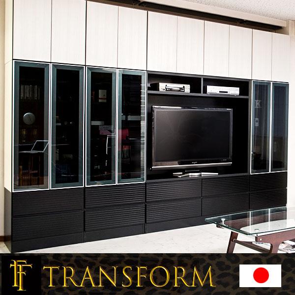 【Transform】トランスフォームシリーズ ユニットシステム壁面収納 幅60 下台 扉タイプ ラック 棚 白家具 木製 完成品 ブラウン ホワイト つっぱり テレビ台 薄型 本棚 テレビボード