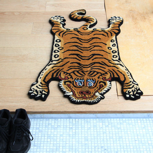 世界四大絨毯の一つ!! Tibetan Tiger Rug Large/チベタンタイガーラグ 【チベット タイガー ラグ 絨毯 カーペット 玄関マット リビング】