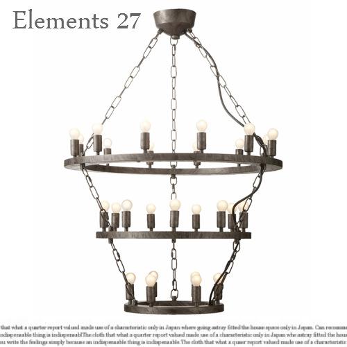 Elements27/エレメンツ27【天井照明 ペンダントランプ ビンテージ シャンデリア インダストリアル カフェ 北欧風 アートワークスタジオ レイトン】