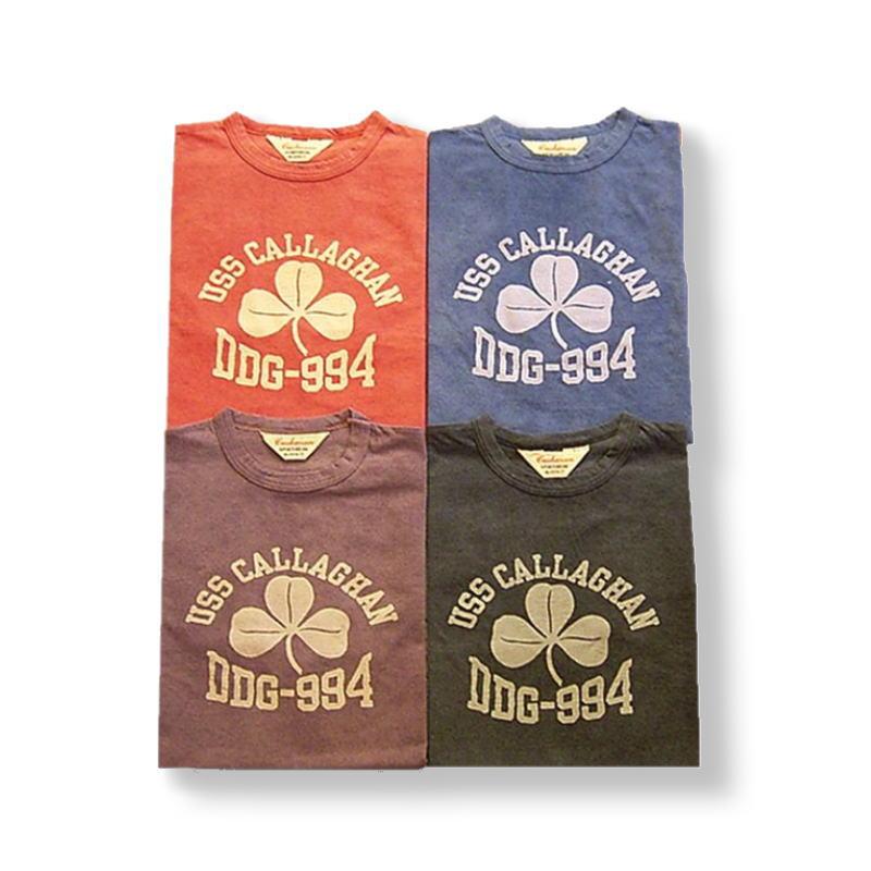 全国 どこでも 送料無料 !春夏新作!【CUSHMAN】フロスト・プリントTee(DDGー994)【クッシュマン】クローバー柄 メンズ&レディース 半袖Tシャツ コットン100%