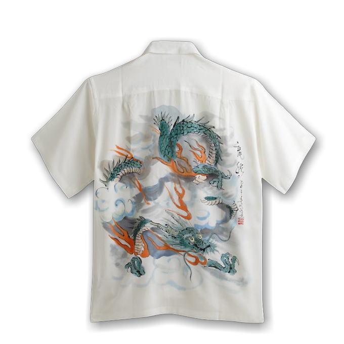 3167d0050 MAKANALEI hand-painted silk 100% Thunder Dragon pattern men's & ...