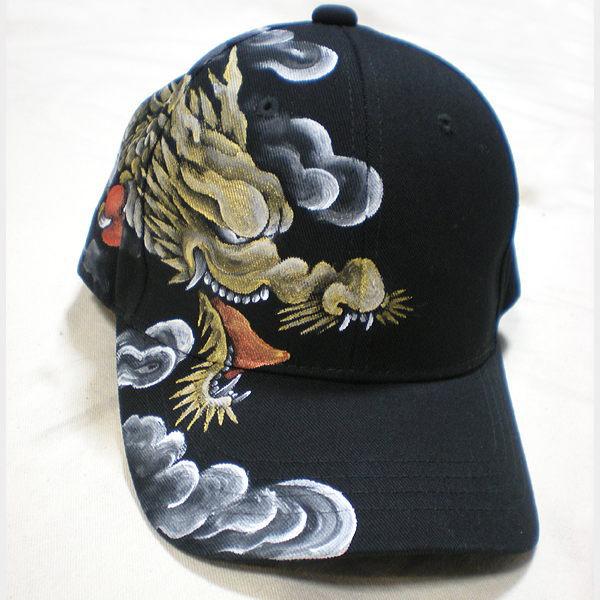 全国どこでも 送料無料 !!新作!!【羽水】CAP【手描き友禅の龍柄CAP】メンズ&レディース 帽子