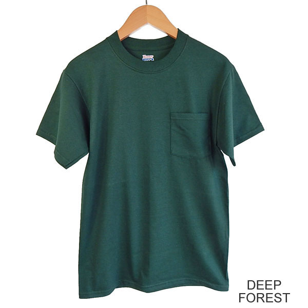 HANES BEEFY TEE POCKET Hanes pocket T shirt poke T pocket T 5190p Beefy T shirts CAMBER 702 and same weight U. S. planning.