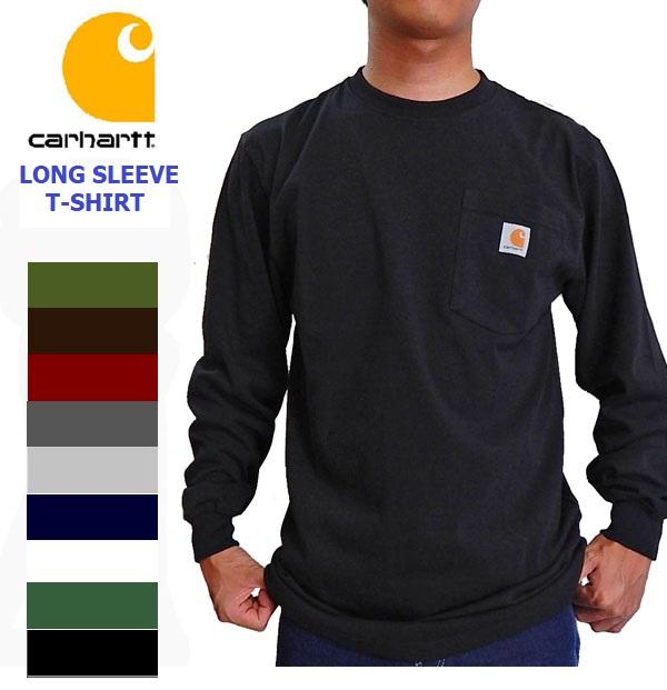 カーハート ロンt CARHARTT ポケット付き 長袖tシャツ 大規模セール 希少 K126 ロンT 長袖 ロングTシャツ ロング ロンティー ポケt