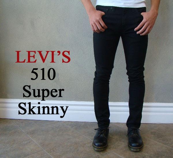 Levi 's 리 바이스 SuperSkinny 510 제트 슈퍼 스키 니 로우 라이즈 블랙 슬림 USA 기획