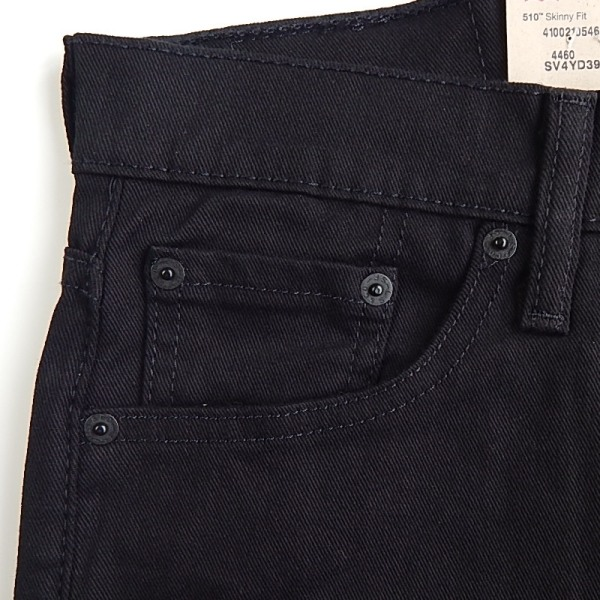 Levi's Levi's 510 SuperSkinny Jet Super skinny hipster black slim USA plan