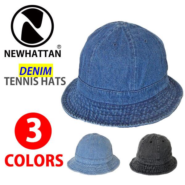 ニューハッタン デニム 百貨店 テニスハット NEWHATTAN 2020 新作 DENIM TENNIS HATS METRO HAT サファリハット メンズ 帽子 メトロハット レディース 大きいサイズ