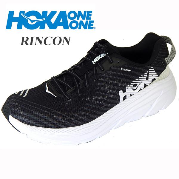 HOKA ONE ONE ホカオネオネ RINCON リンコン メンズ スニーカー シューズ ランニング ランニングシューズ 1102874 黒 白 BLACK WHITE