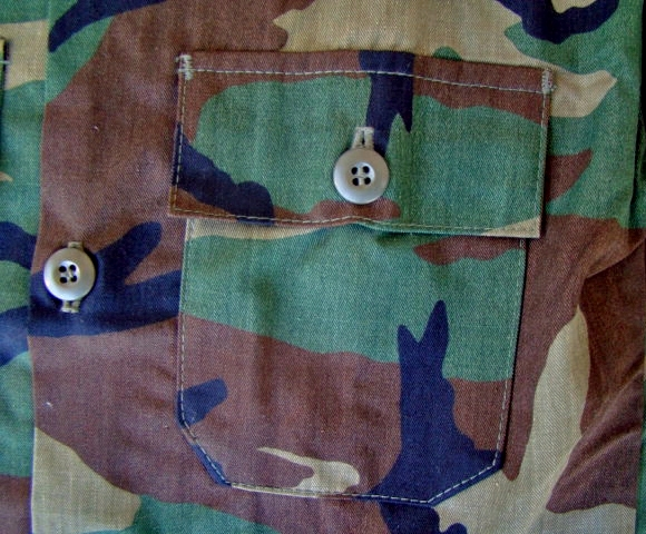 Earls apparel Camo camouflage pattern 4 Pocket military jacket