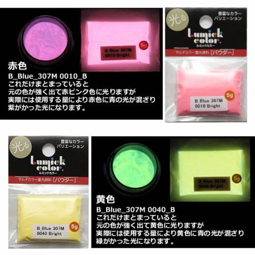 蓄光 パウダー ルミックカラー ブライトトーン単品5g レジン 顔料