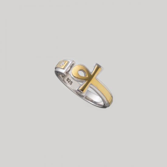 高価値セリー 【mouchu(マウチュ)】Ankh Ring(リング 指輪 Silver925 キュービックジルコニア), フェレットワールド aed29c2a