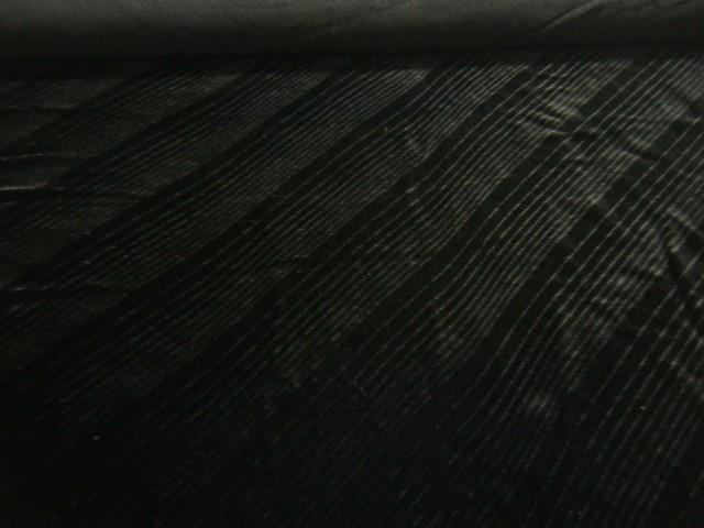 【 アウトレット・訳あり 】【 メール便不可商品です 】【 3.6m全部で 4,980円 】 国産 シャドー加工 レーヨン ベルベット生地 ♪ ブラック ♪≪ 日本製 激安 服地 布地 布 斜めストライプ≫【 1万円以上で送料無料です 】e9ke714  b