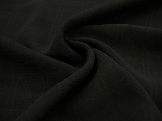 ♪限定1点♪【 4.7m価格 】日本製 格子織り ブラックフォーマル用生地 ♪ 黒色・ブラック ♪法事 礼装 礼服 ≪日本製 激安 服地 布地 透かし格子 チェック織り≫【 4.7m着分 10,000円 】【 宅配便のみです 】p2ke374 bB