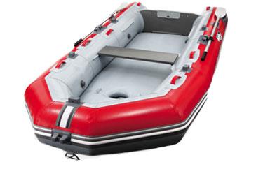 【Achilles/アキレス】FMRseries Kuroobi エアーフロアモデル 4人乗り 予備検査証付 FMR-405 レッド/ライトグレー インフレータブルボート ゴムボート