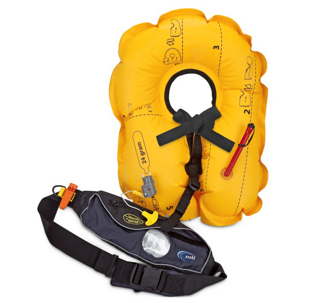 【mti/エムティーアイ】インフレータブルライフジャケット(ポーチタイプ) MTI-4009 Fluid2.0 ポーチ型ライフジャケット 大人用 フリーサイズ