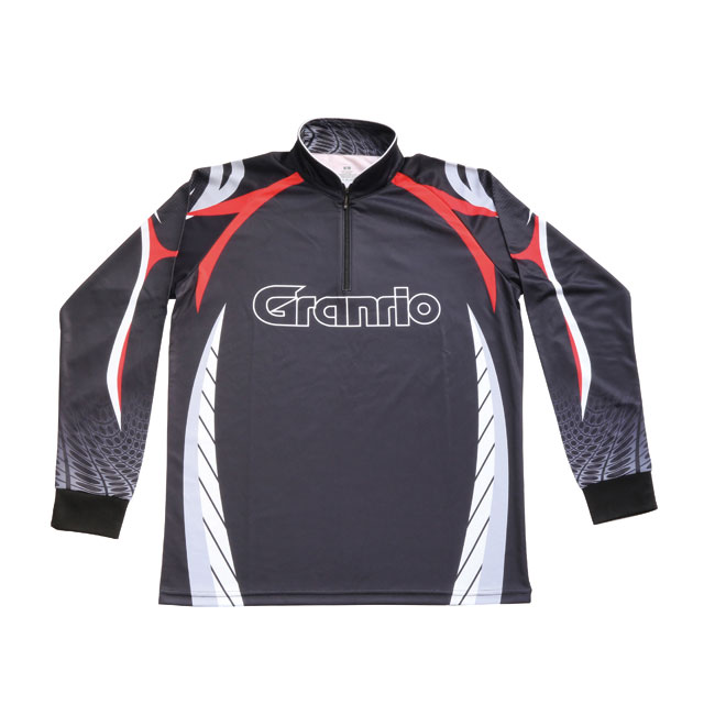 【TAKA/タカ産業】Gドライジップシャツ 長袖 BLACK BB-020 ドライシャツ ジップシャツ ウェア