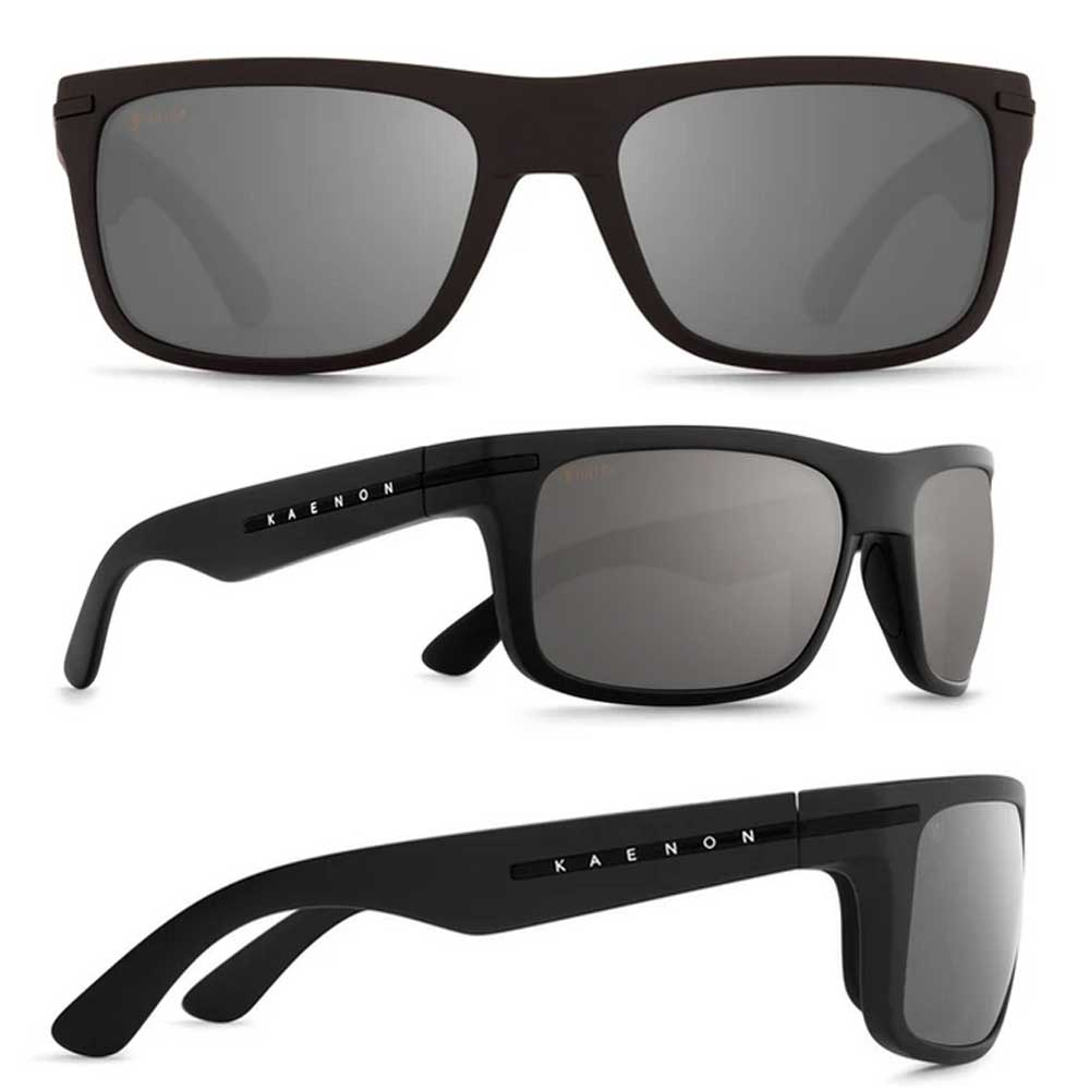 【KAENON/ケーノン】BURNET バーネット (フレーム)Black Label / (レンズ)Ultra G12 Black Mirror 大人用 偏光レンズ 偏光サングラス スポーツサングラス