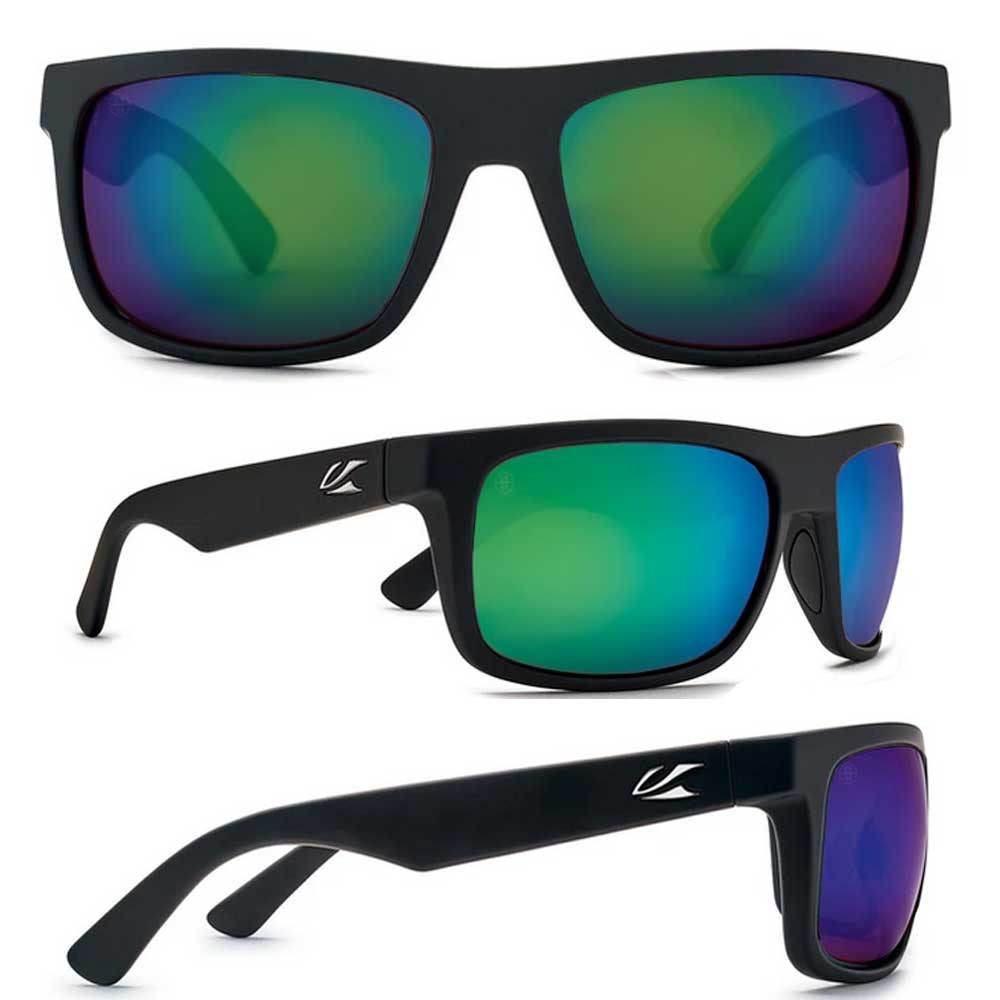 【KAENON/ケーノン】BURNET MID バーネットミッド (フレーム)Black Matte Grip / (レンズ)Ultra B12 Coastal Green Mirror 大人用 偏光レンズ