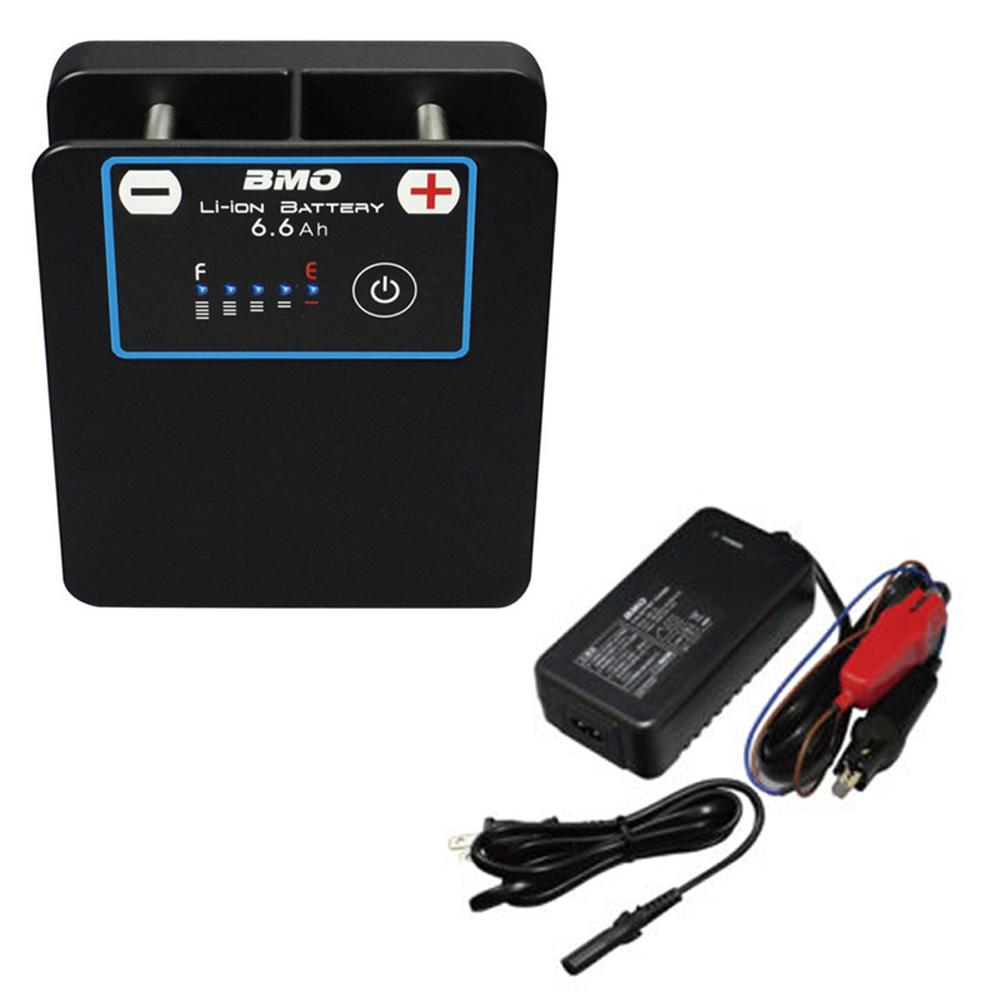 【BMO/ビーエムオー】リチウムイオンバッテリー6.6Ah チャージャーセット 10Z0009 499148 バッテリー ボート用品