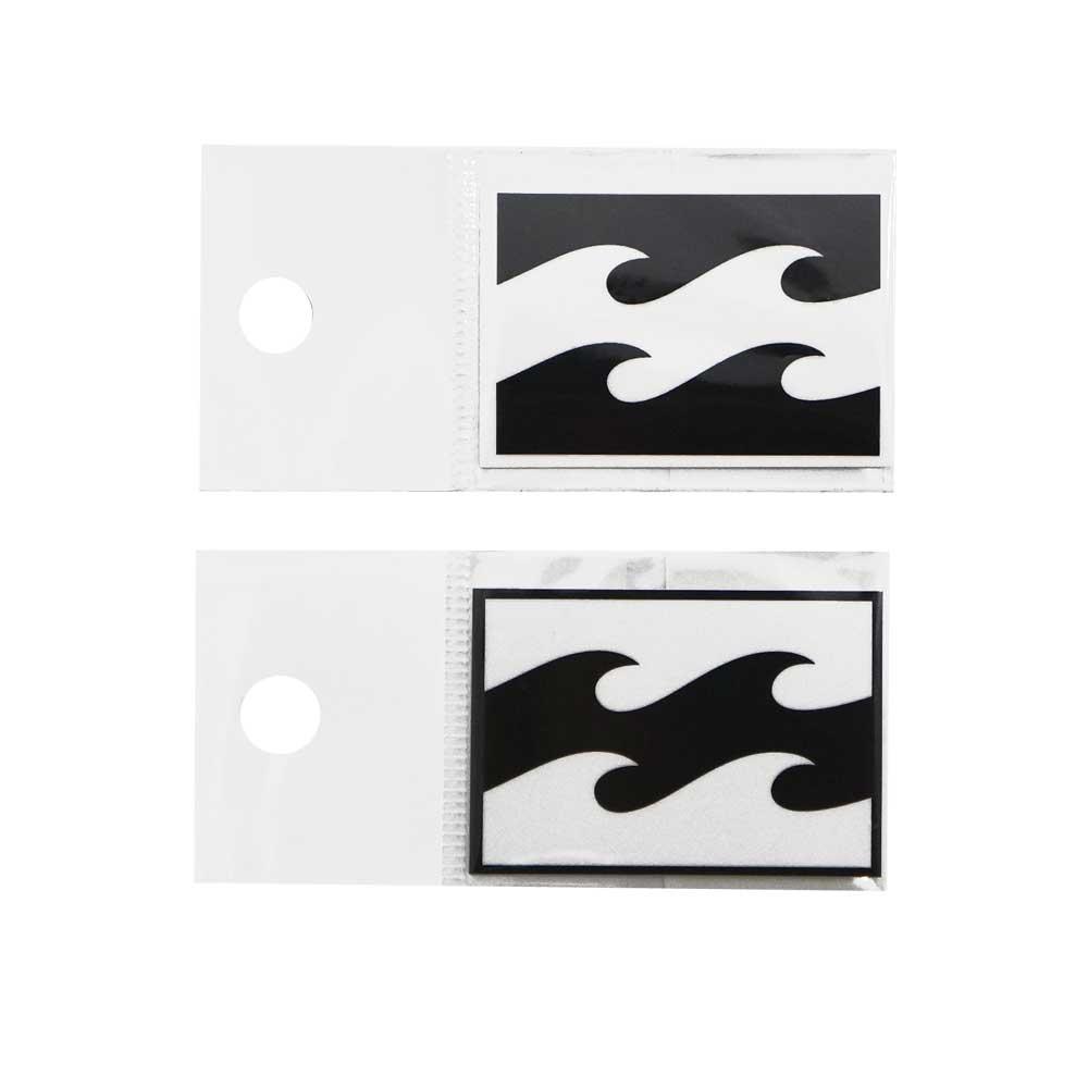 当店限定販売 ビラボン シールステッカー B00-S04 BILLABONG W48mm お得なキャンペーンを実施中 プリントステッカー ホワイト シール 波ロゴ ブラック