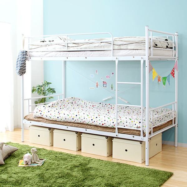 二段ベッド 2段ベッド 子供 大人用 安い おしゃれ キッズ 子供部屋 北欧 頑丈 丈夫 安全 パイプ 分割 分離 セパレート シングル 落下防止