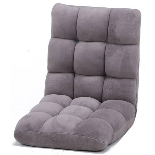 座椅子 座イス 座いす リクライニングチェア 低い 椅子 ソファー 一人暮らし コンパクト ロー こたつ ローソファー ローソファ おしゃれ 1人掛け 一人掛け 厚手 フロアチェア グレーべージュ