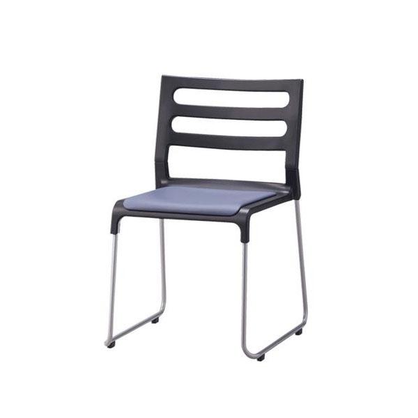 会議椅子 スタッキングチェア 1脚【 スタッキングチェアー 椅子 チェア イス いす チェアー 積み重ね 重ね置き 】 送料無料 送料込 学割 プレミアム