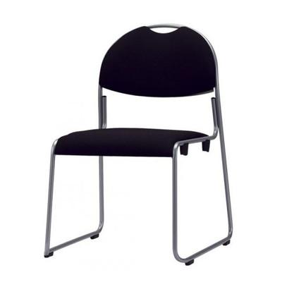 積み重ね 重ね置き 会議イス 肘なし 4脚セットブラック【 スタッキングチェア スタッキングチェアー 椅子 チェア イス いす チェアー 】 送料無料 送料込 学割 プレミアム