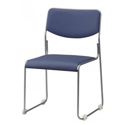 積み重ね 重ね置き 会議イス 4脚セット ブルーグレー【 スタッキングチェア スタッキングチェアー 椅子 チェア イス いす チェアー 】 送料無料 送料込 学割 プレミアム