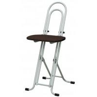 高さ調節 昇降 低姿勢 立ち仕事 中腰 作業 椅子 ダークブラウン/シルバー 日本製 完成品 ( 折りたたみ 折り畳み 低い 低い椅子 チェア チェアー イス いす