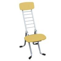 高さ調節 昇降 低姿勢 立ち仕事 中腰 作業 椅子 折りたたみ ナチュラル/シルバー 日本製 完成品 低い 低い椅子 折り畳み 低い 低い椅子 チェア イス いす