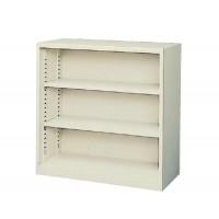 書類棚 書庫 本棚 大容量 スチール キャビネット オフィス 棚 収納 スチールラック スチール棚 A4 おしゃれ ロータイプ 約 90cm幅
