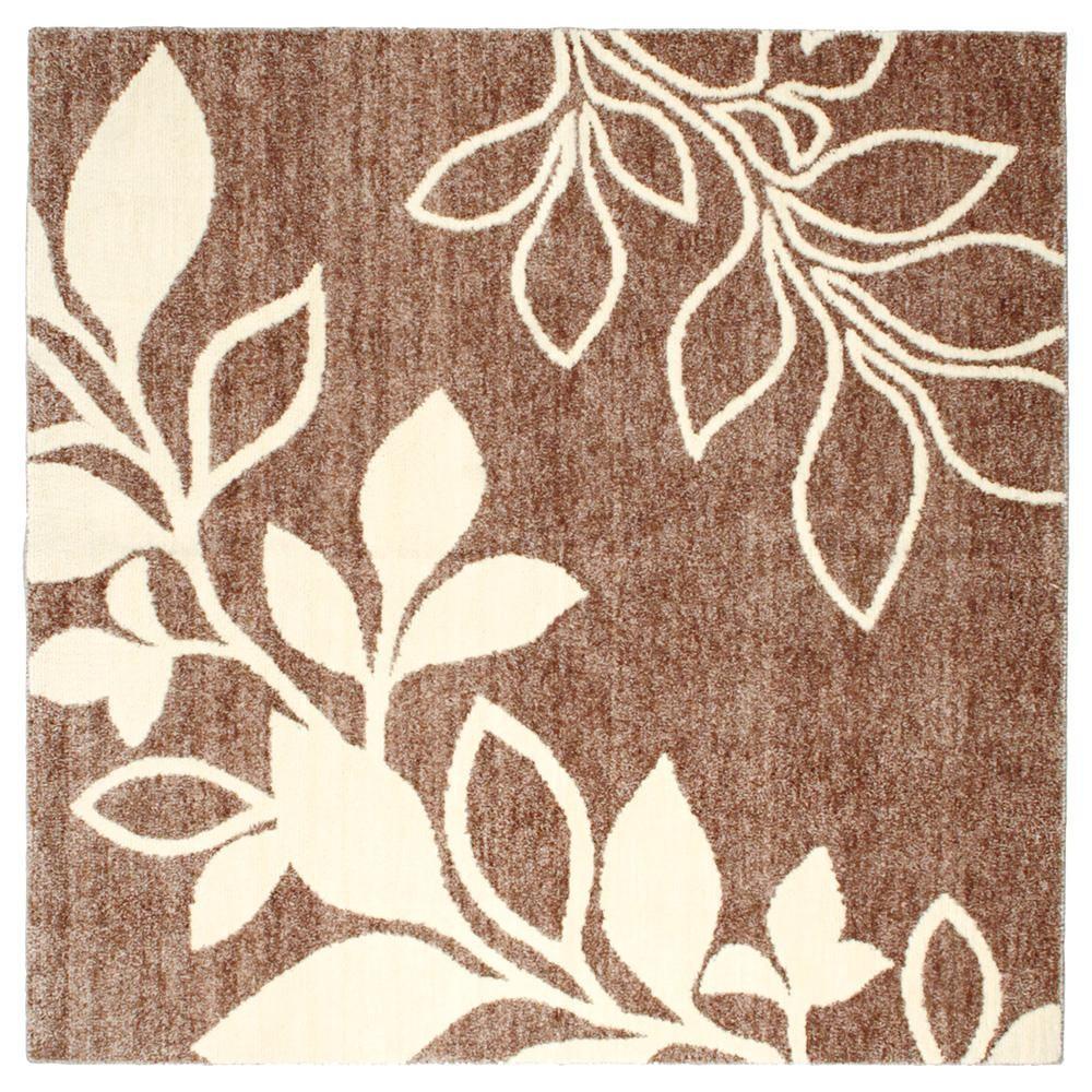 絨毯 カーペット じゅうたん ラグ ラグマット マット 厚手 おしゃれ 北欧 安い ふかふか ふわふわ 185×185 3畳 ブラウン