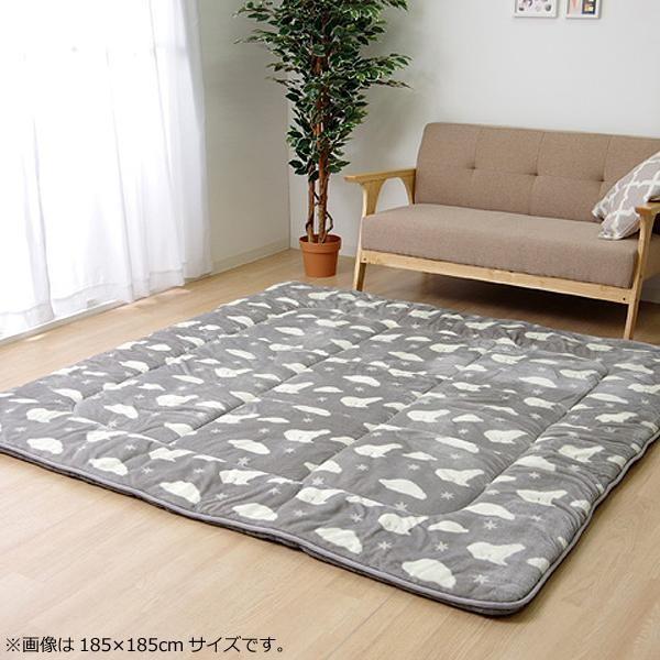ラグ ラグマット ダイニングラグ マット 絨毯 カーペット じゅうたん 厚手 おしゃれ 北欧 安い ふかふか フランネル フランネルラグ 200×240 3畳 グレー