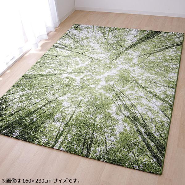 ラグ ラグマット ダイニングラグ マット カーペット じゅうたん 厚手 おしゃれ 北欧 安い 床暖房 床暖房対応 ペルシャ 調 アンティーク 200×250 3畳 グリーン