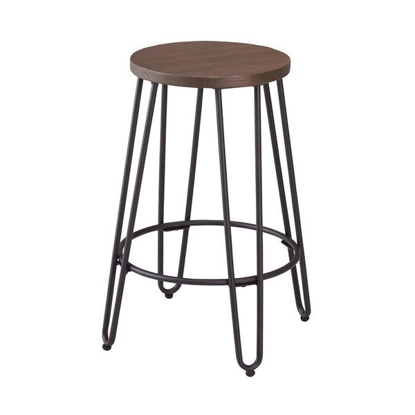 カウンターチェア 北欧 おしゃれ 安い バーチェア ハイチェア 椅子 アメリカン アンティーク デザイナーズ レトロ カウンター スツール 60 マットブラック