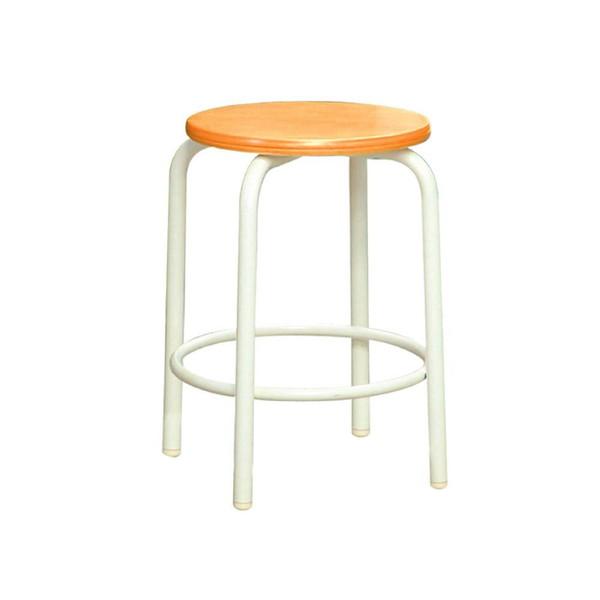 パイプ椅子 スタッキングチェア オフィスチェア 会議用チェア 会議椅子 チェア イス いす スツール 事務椅子 椅子 パソコンチェア デスクチェア pc 丸 足置き ナチュラル アイボリー 日本製 完成品