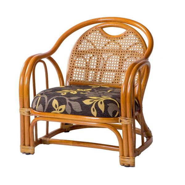 高座椅子 低い 椅子 一人暮らし コンパクト ローチェア こたつ おしゃれ 1人掛け 一人掛け ラタン アームチェア ロー 座面高26cm