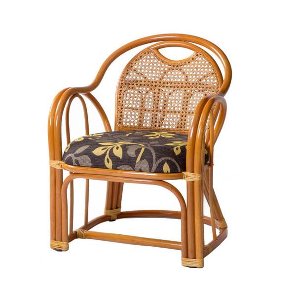高座椅子 低い 椅子 一人暮らし コンパクト ローチェア こたつ おしゃれ 1人掛け 一人掛け ラタン アームチェア ミドル 座面高35cm