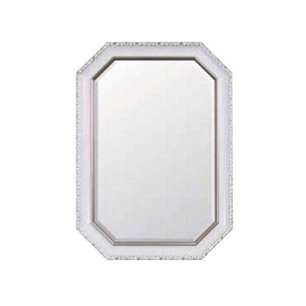 姿見 ミラー 鏡 メイク 化粧 壁掛け ウォールミラー 八角 額縁 アンティーク 北欧 かわいい 玄関 取り付け 飛散防止:家具・インテリア通販 アットカグ