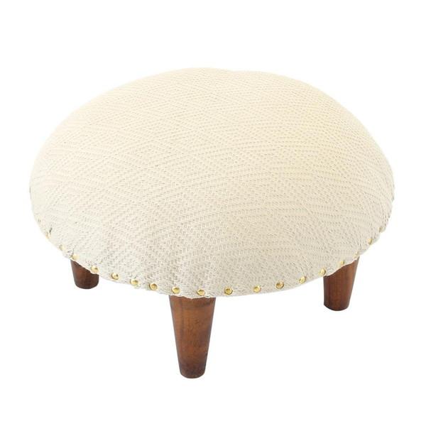 オットマン チェア スツール 足置き 低い 椅子 いす おしゃれ 北欧 アンティーク 安い チェアー 腰掛け シンプル ロー 丸 ホワイト