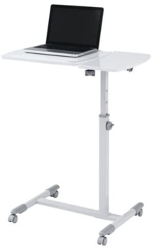 作業台 パソコンデスク サイドテーブル ワークテーブル ソファーテーブル 作業テーブル 作業机 ノートパソコンデスク 白