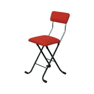 パイプ椅子 折りたたみ 会議椅子 チェア イス いす スツール オフィスチェア 事務椅子 椅子 パソコンチェア デスクチェア pc メッシュ レッド/ブラック