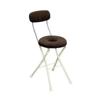 パイプ椅子 折りたたみ 会議椅子 チェア イス いす スツール オフィスチェア 事務椅子 椅子 パソコンチェア デスクチェア pc ドーナツ ブラウン/アイボリー