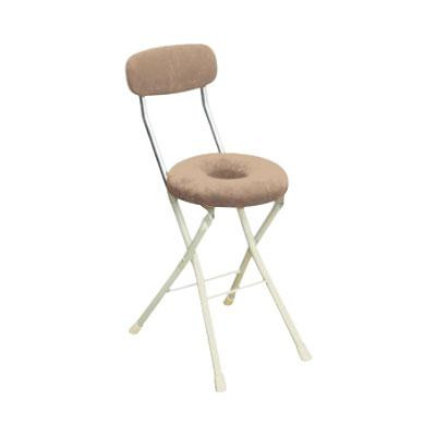 パイプ椅子 折りたたみ 会議椅子 チェア イス いす スツール オフィスチェア 事務椅子 椅子 パソコンチェア デスクチェア pc ドーナツ アイボリー/アイボリー